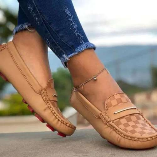 Sheilawears Women Faux Leather Lace-Up Loafers