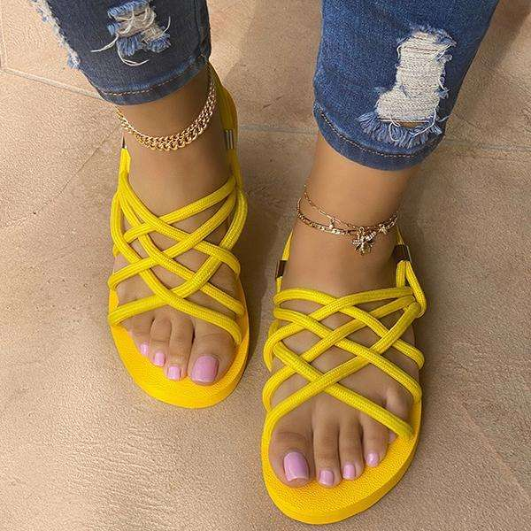 Sheilawears Soft Bottom Cloth Rope Sandals