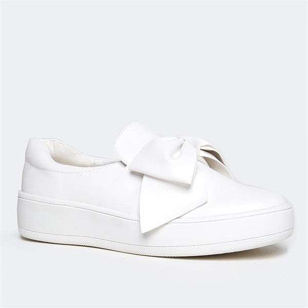 Sheilawears Adorable Bow Slip-On Sneakers