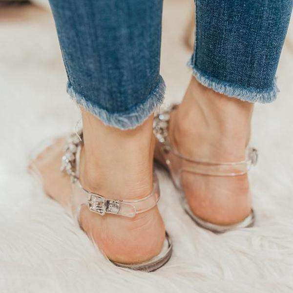 Sheialwears Crystal Clear Sandals