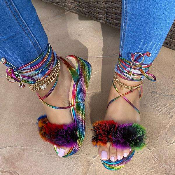 Sheilawears Summer Fashion Lace-Up Sandals