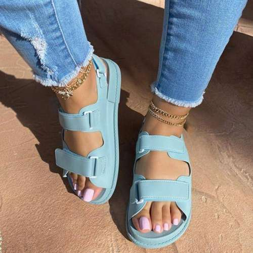 Sheilawears Fashion PU Velcro Sandals