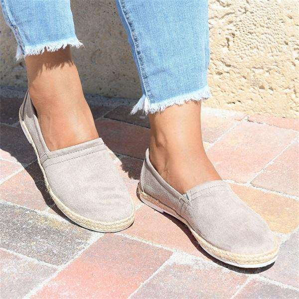 Sheilawears  Women Simple Comfy Slip On Sneakers