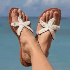 Sheilawears Women Starfish Beach Flat Sandals
