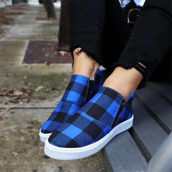 Sheilawears Comfy Plaid Sneakers