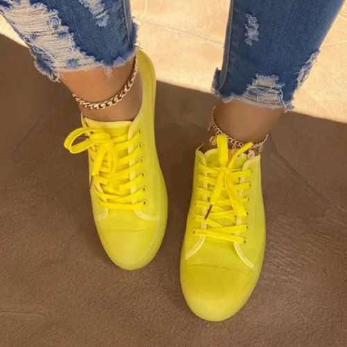 Sheialwears Women Fashionable Lace-Up Sneakers Jelly Shoes