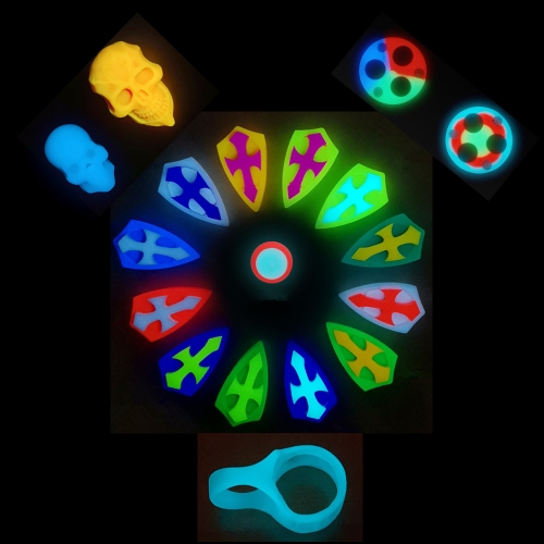Turbo Glow Cross Tri-color Gasket Finger Hole Skull Fit for Tool FW3A etc.