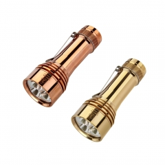 Lumintop FW21 Pro Copper Brass Tri Cree XHP50.2 LEDs 10000 Lumens LED Flashlight