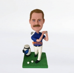 Golf bobble head custom bobble head custom figurine personalized gift Christmas present Birthday gift personalized bobblehead