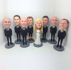 Groomsmen bobble head best man bobblehead bridesmaid bobblehead groomsman gift best man bobblehead custom bobble head