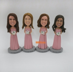 Personalized gift for Bridesmaids custom bobble head Bridesmaid bobble head custom figurine