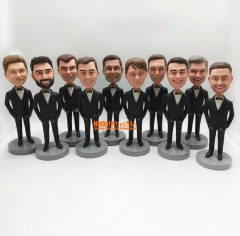 Groomsmen bobble head groomsman gift Best man bobblehead groomsmen gift custom bobble head custom figurine personalized bobblehead