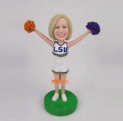Cheerleader bobble head custom bobblehead custom figurine Christmas gift Birthday gift personalized bobble head personalized gift
