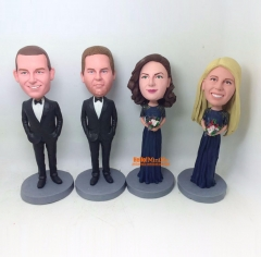 Bridesmaid bobblehead groomsmen bobblehead best man bobblehead custom bobble head custom figurine groomsmen gift bridesmaid gift