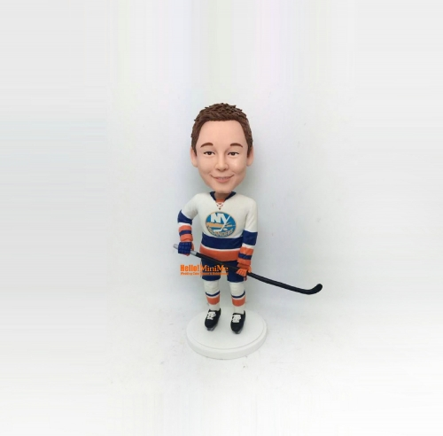 Hockey bobble head birthday gift Kid bobblehead personalized gift christmas gift custom figurine personalized bobble head for child