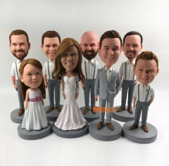 Bride bobblehead groom bobblehead best man bobblehead groomsmen bobbleheead Flower Girl bobblehead ring bearer bobble head: BH-G630