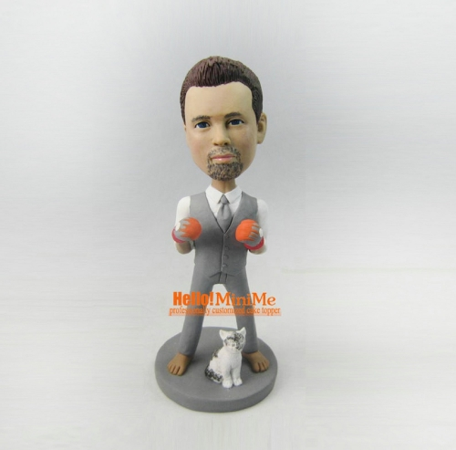 Boxer bobble head custom bobble head custom figurine personalized gift Christmas present Birthday gift personalized bobblehead
