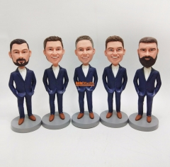Custom bobble head Groomsmen bobble head Best man bobblehead groomsmen gift groomsman gift custom figurine personalized bobblehead