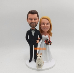 Wedding topper wedding Bobble head cake toppers for wedding Custom cake topper custom bobble head Wedding cake topper