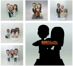 Fully Custom made Cake topper custom figurine customized cake topper custom bobble head