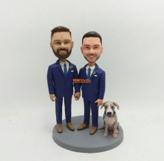Gay wedding cake topper Same Sex Wedding cake topper gay wedding bobblehead same sex wedding bobblehead custom cake topper