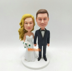 Wedding Cake Topper bobble head Custom cake topper Wedding topper custom bobblehead Cake toppers wedding figurine Wedding topper
