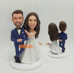 Custom cake topper personalized wedding keepsake Wedding cake topper wedding topper wedding figurine custom bobblehead custom figurine