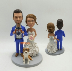 Wedding topper bobblehead custom Cake toppers for wedding Custom bobble head Wedding Cake Topper personalized wedding cake topper