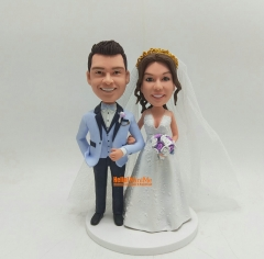 Wedding Cake topper bobblehead Custom cake topper Wedding topper bobble head cake toppers for wedding