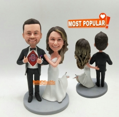 Wedding cake topper custom bobble head wedding bobblehead custom cake topper wedding topper Cake Toppers for wedding gift