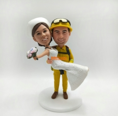 Cake Toppers for wedding bobble head custom cake topper custom bobble head wedding topper Custom cake topper Wedding cake topper