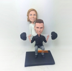 Weight Lifting Cake Toppers wedding figurine Wedding Topper custom Bobble head custom wedding cake topper custom cake topper for wedding