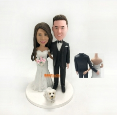 wedding cake topper wedding Bobble head custom cake topper wedding topper custom bobblehead cake toppers for wedding figurine