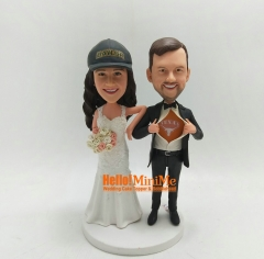 Cake Topper bobblehead Custom cake topper Wedding topper Custom bobble head wedding bobble head Custom wedding Cake Topper
