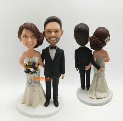 Cake toppers for Wedding Cake Topper wedding bobble head custom bobblehead Wedding topper Custom cake topper weddign cake toppers