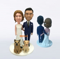 Wedding cake topper wedding topper bobble head Custom cake toppers for wedding keepsake wedding figurine Personalized wedding gift