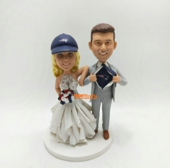 Wedding Cake Topper wedding topper Custom cake topper Custom bobble head wedding bobble head Custom wedding Cake Topper