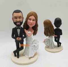Custom wedding topper bobblehead wedding cake topper wedding Bobble head Custom Cake Topper
