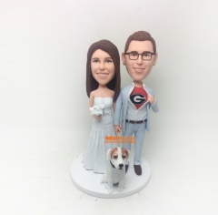 wedding cake topper wedding bobblehead custom cake topper wedding topper bobble head Personalized wedding gift