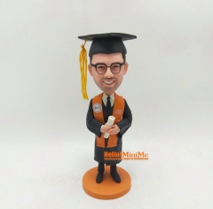 Graduate bobble head graduation gift christmas gift custom figurine birthday gift Personalized bobble head