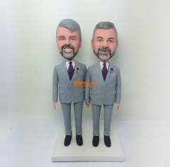 Same sex wedding cake topper Gay wedding bobblehead custom cake topper custom bobble head Gay wedding cake topper custom figurine