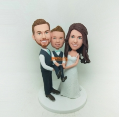 Kids bobble head Christmas Gift custom bobblehead Birthday Gift Children cake topper wedding cake topper custom cake topper