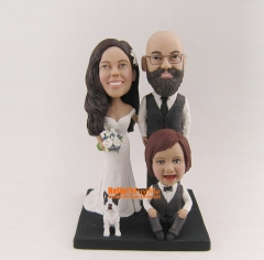 wedding cake topper Kid bobble head custom bobble head Birthday Gift Christmas Gift Children bobblehead custom cake topper