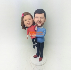 Custom Cake topper Kid bobblehead Custom Bobble head personalized gift for father birthday gift for kid