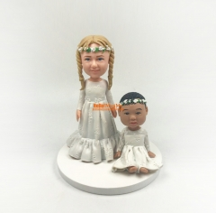 Children cake topper Christmas Gift Cake toppers custom bobble head Birthday Gift Birthday cake topper custom Cake Topper