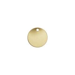 14K Gold Filled Disc stamping 28 gauge tag 4mm Bulk 20 pcs
