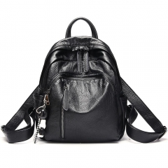 Women Backpack Genuine Leather Anti-theft Bag