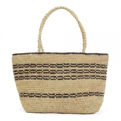 Hand-woven Straw Hobo Bag for Women