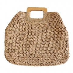 Women Weave Rattan Shoulder Bag Summer Beach Tote