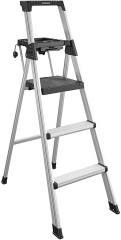 20502ABL1E Signature Series Step, 5ft,6ft Aluminum Ladder, Black